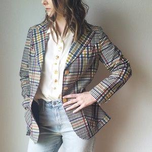 Vintage 1970's Prestige Plaid Blazer Jacket